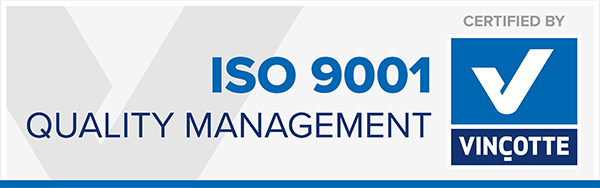 Cynerpro Vincotte ISO9001 certificaat
