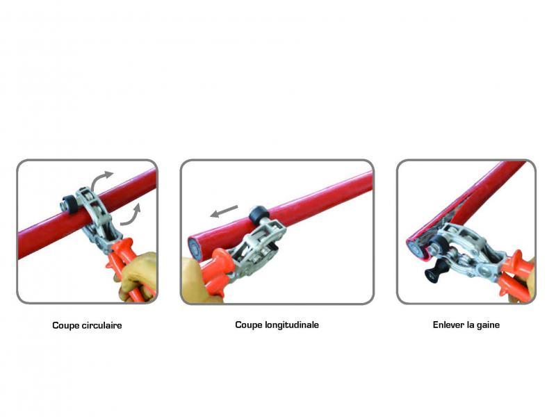1000V gereedschappen - Kabelstriptang - Pince a dégainer